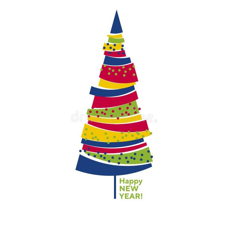 Árbol de navidad aislado abstracto colorido divertido libre illustration