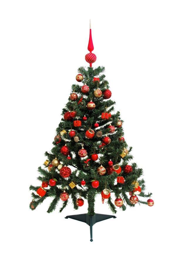 Árbol de navidad aislado en blanco fotografía de archivo libre de regalías