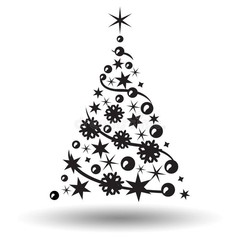 Árbol de navidad aislado Insignia abstracta del diseño libre illustration