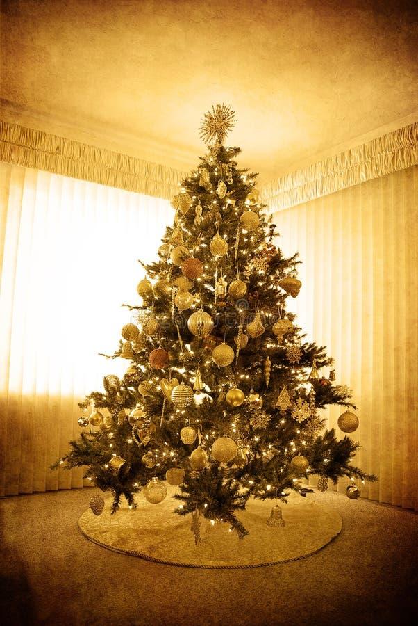 Árbol de navidad antiguo fotos de archivo libres de regalías