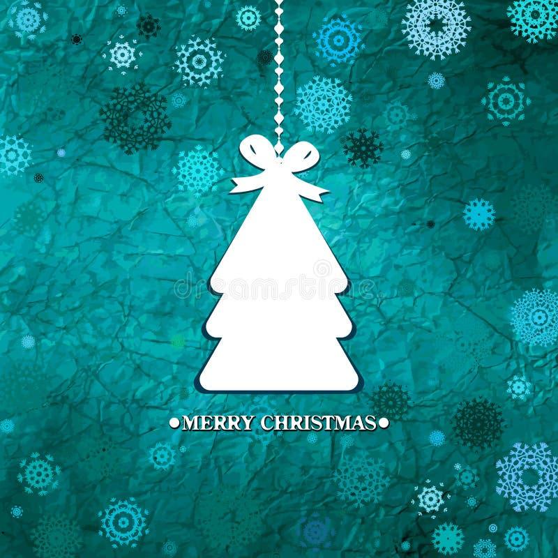 Árbol De Navidad Azul Adornado. EPS 8 Imágenes de archivo libres de regalías