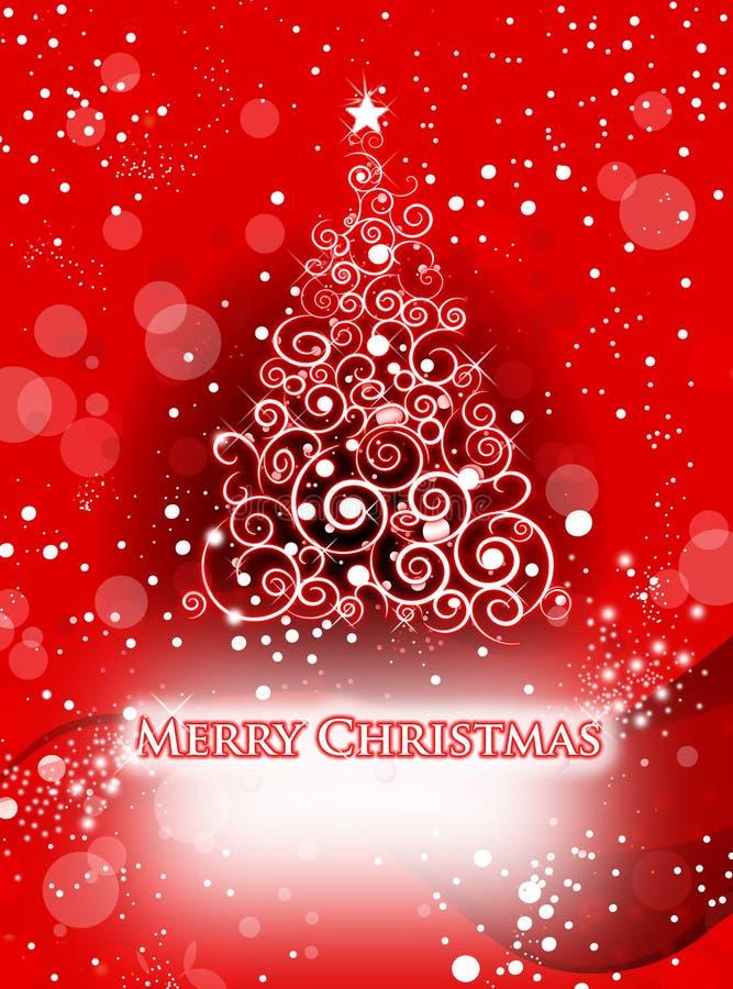 Árbol de navidad blanco ilustración del vector