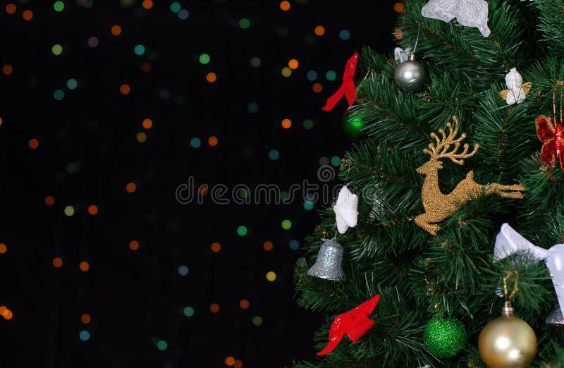 Árbol de navidad con el bokeh. fotos de archivo libres de regalías