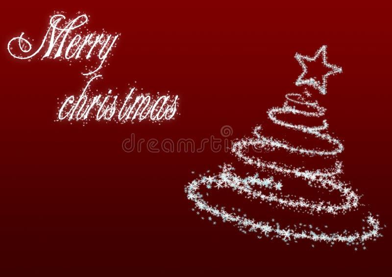 Árbol de navidad con inscription_red stock de ilustración