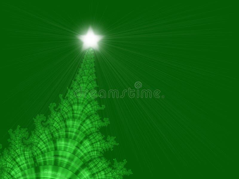 Árbol de navidad con la estrella libre illustration