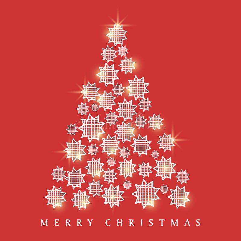 rbol de navidad con las estrellas para la celebracin de la feliz navidad