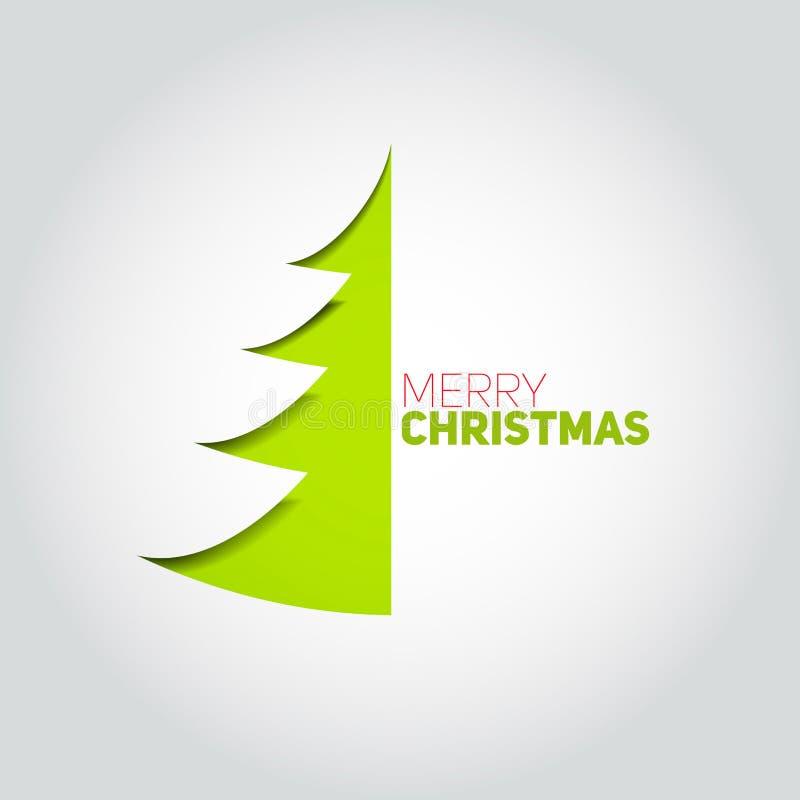 Árbol de navidad cortado del Libro Blanco Elemento del diseño para el holida libre illustration
