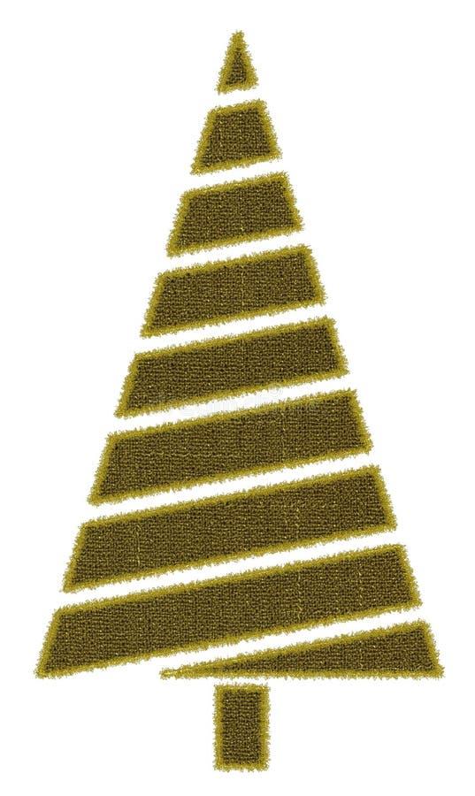 Árbol de navidad cosido fotografía de archivo libre de regalías