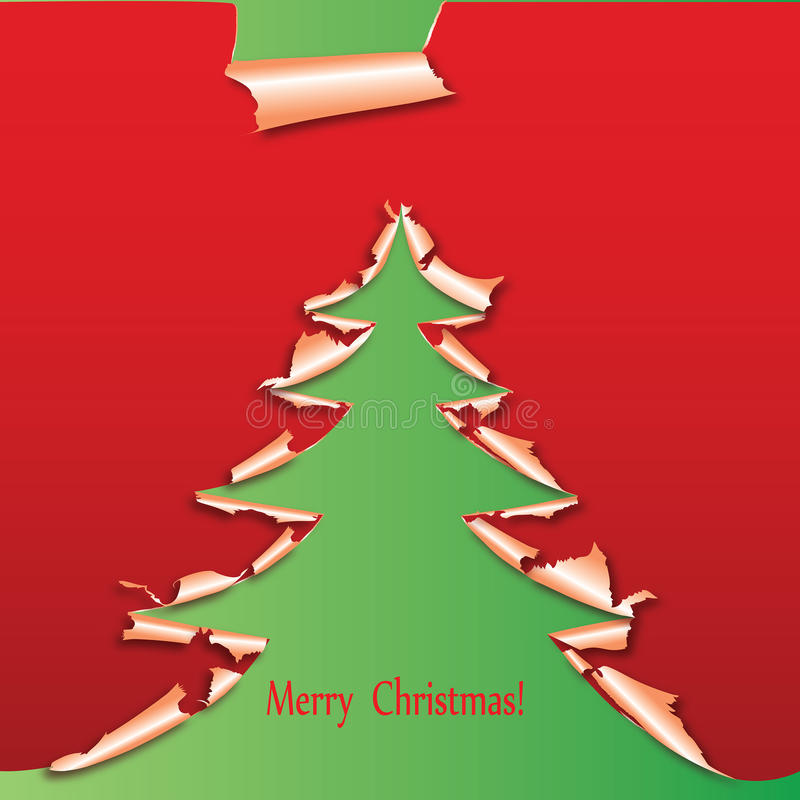 Árbol de navidad creativo formado del papel. ilustración del vector