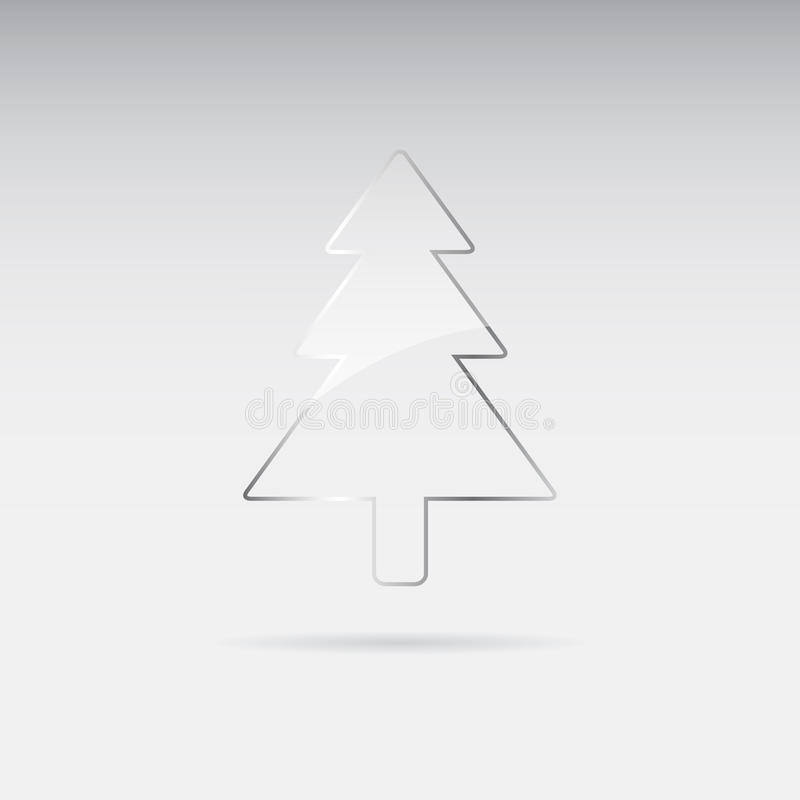Árbol de navidad de cristal ilustración del vector