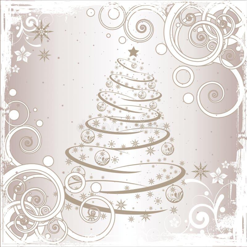 Árbol de navidad de Grunge stock de ilustración