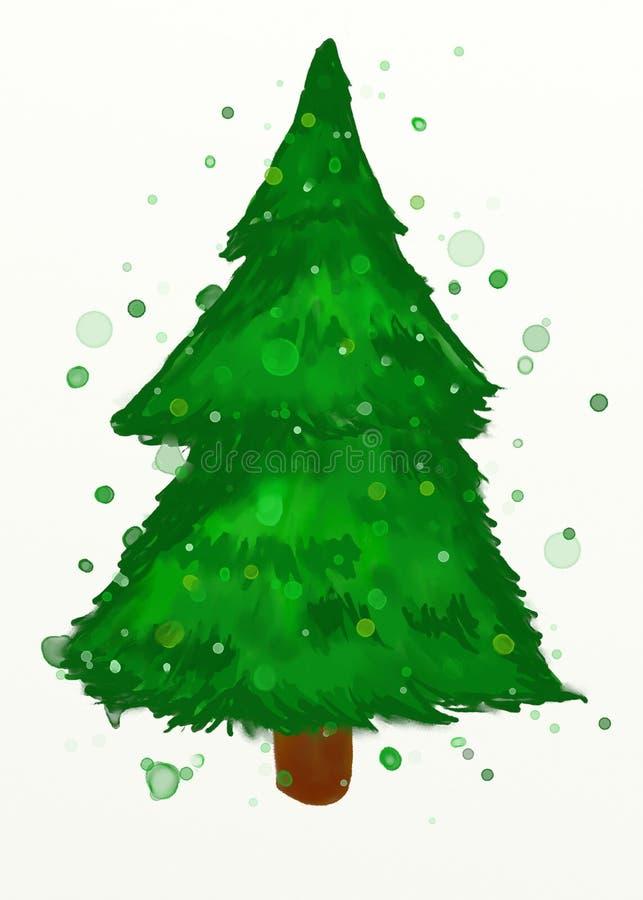 Árbol de navidad de la acuarela libre illustration