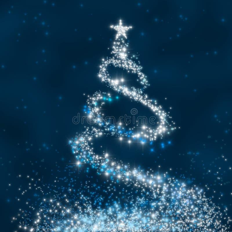 Árbol de navidad de la estrella libre illustration