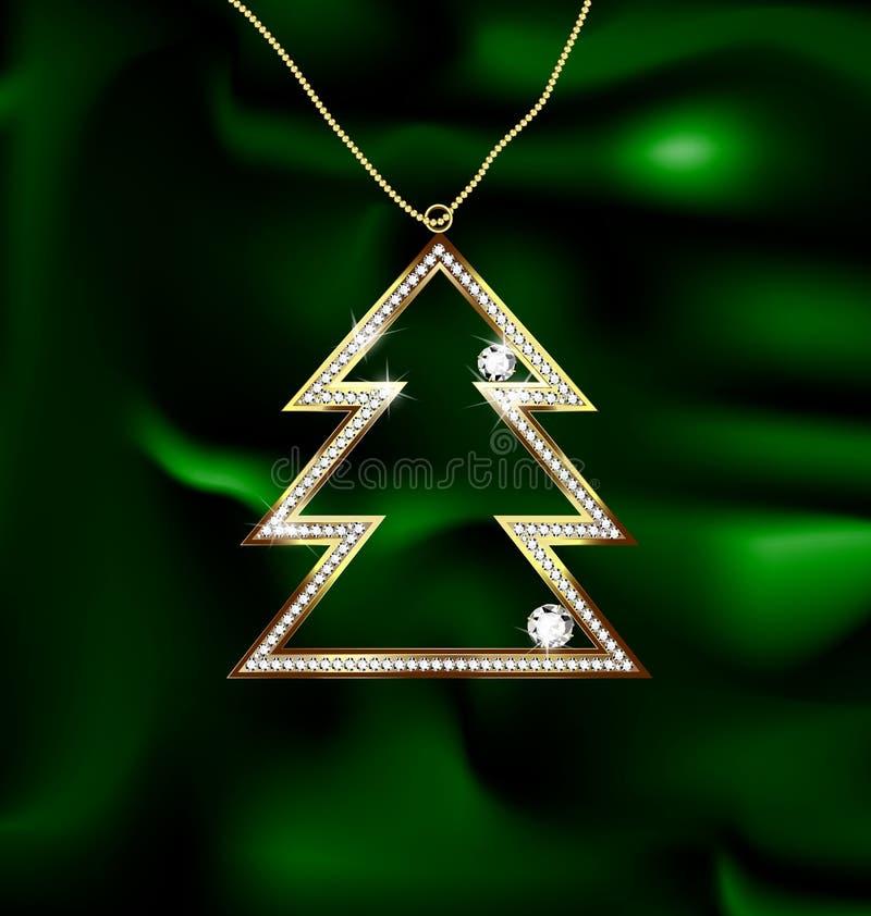 Árbol de navidad de la joya stock de ilustración