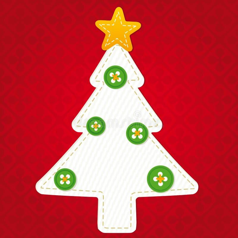 Árbol de navidad de la materia textil stock de ilustración