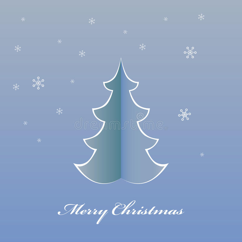 Árbol de navidad de la papiroflexia de la tarjeta de Navidad libre illustration