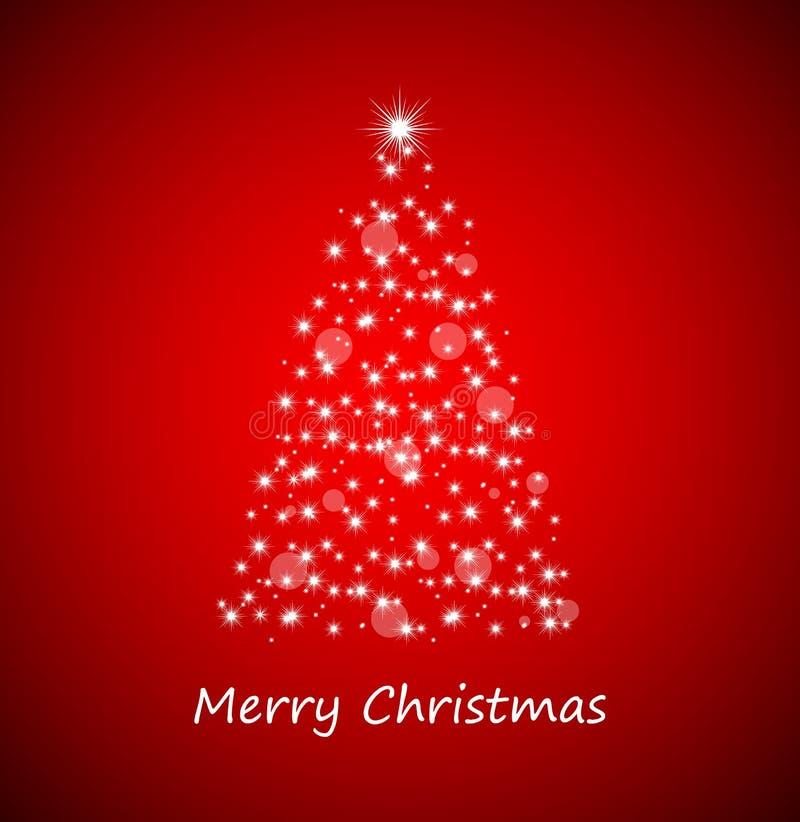 Árbol de navidad de las estrellas stock de ilustración