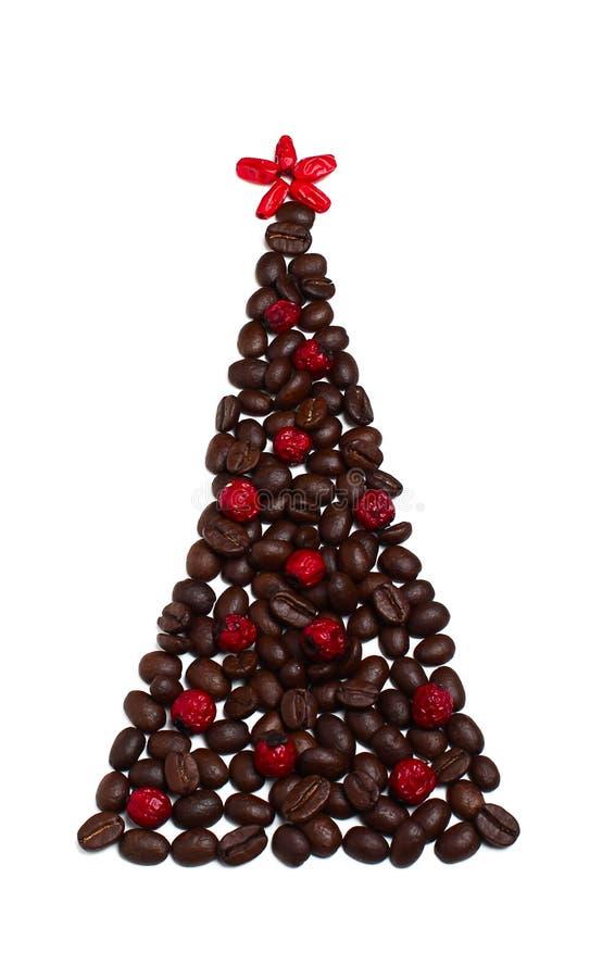 Árbol de navidad de los granos de café imagen de archivo