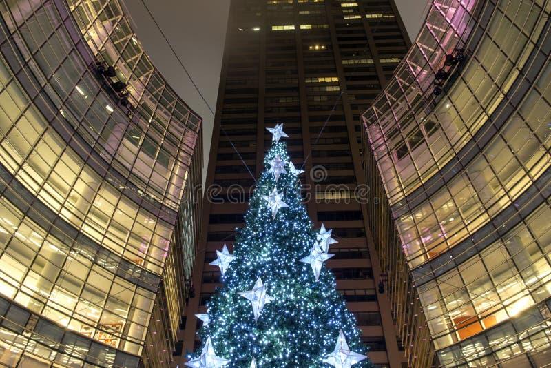 Árbol de navidad de New York City Manhattan imagenes de archivo