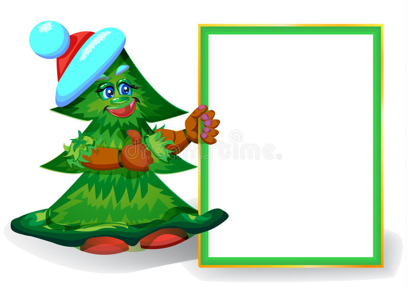 Árbol de navidad de risa con el marco para el texto libre illustration