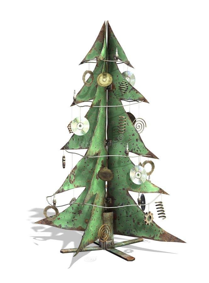 Árbol de navidad de Steampunk stock de ilustración