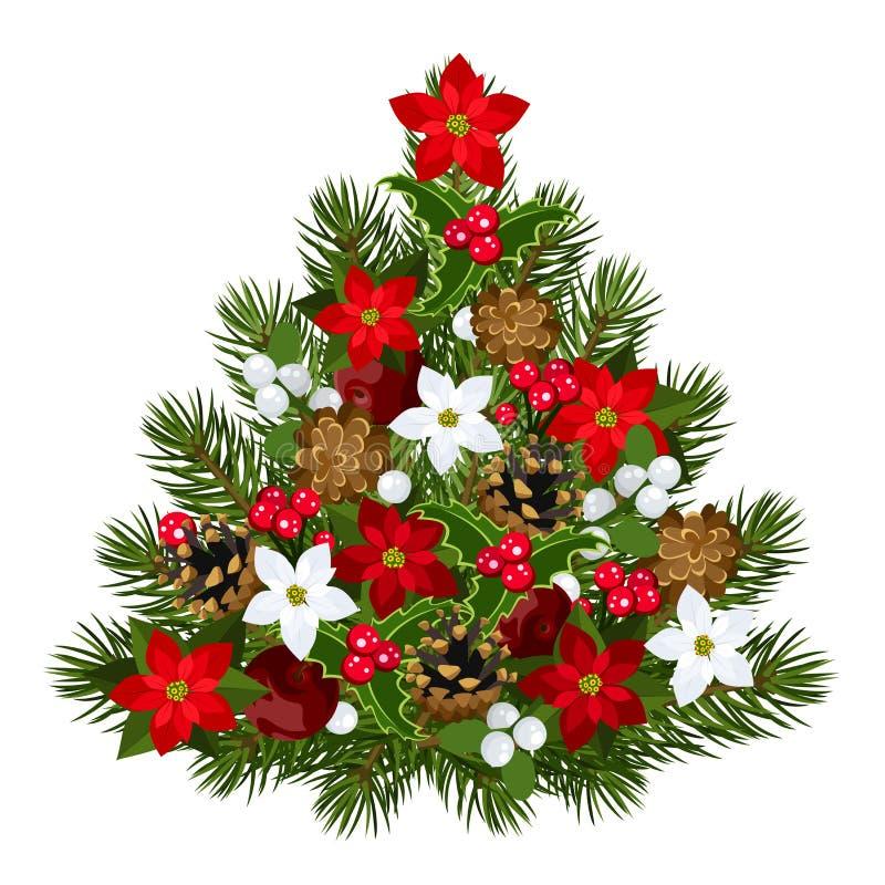 Árbol de navidad decorativo. libre illustration