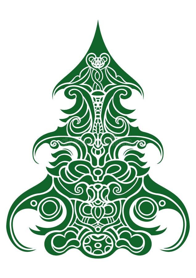 Árbol de navidad decorativo ilustración del vector