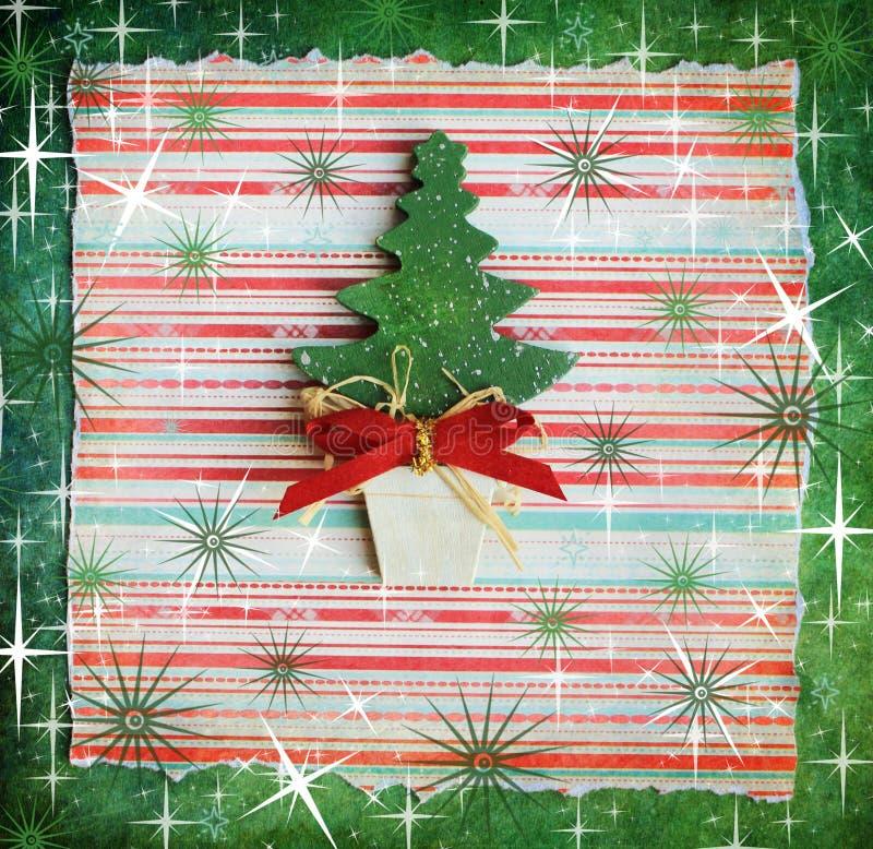 Árbol de navidad decorativo fotografía de archivo
