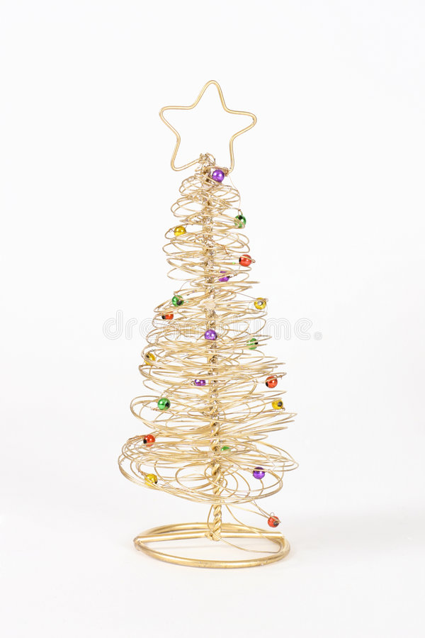 Árbol de navidad del alambre fotos de archivo libres de regalías