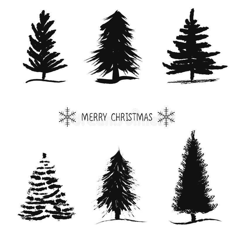 Árbol de navidad del bosquejo de la mano Ilustración del vector stock de ilustración