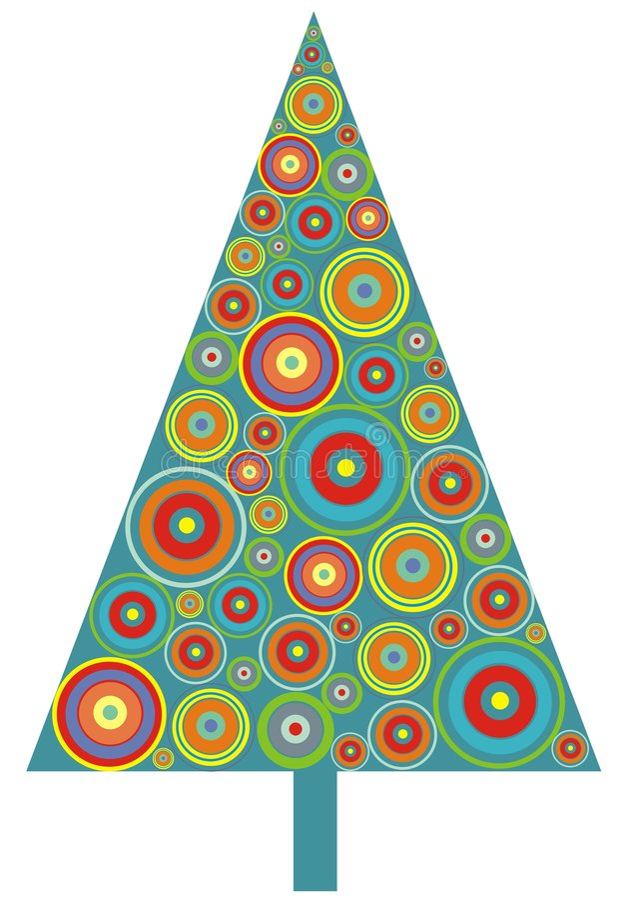 Árbol de navidad del círculo libre illustration
