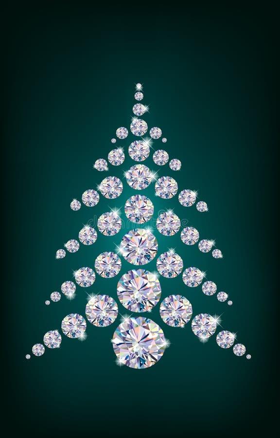 Árbol de navidad del diamante libre illustration
