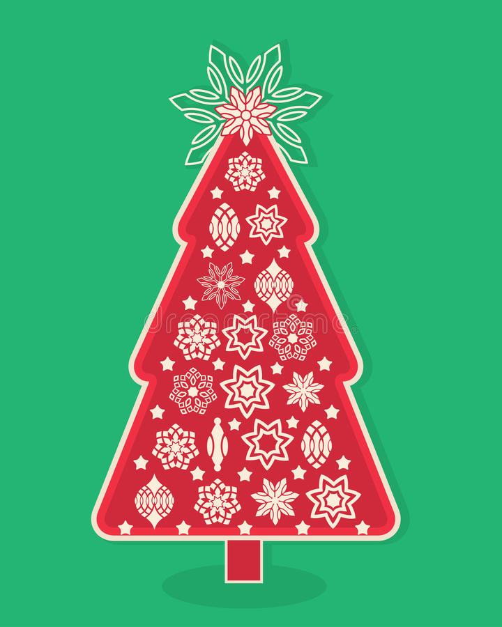 Rbol de navidad del dise o gr fico ilustraci n del vector - Arbol navidad diseno ...