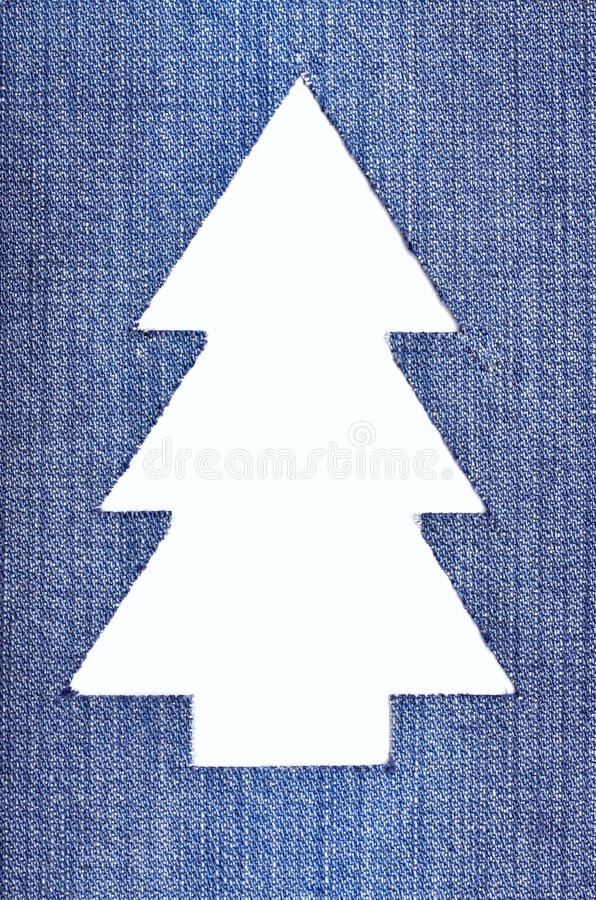 Árbol De Navidad Del Dril De Algodón Fotografía de archivo