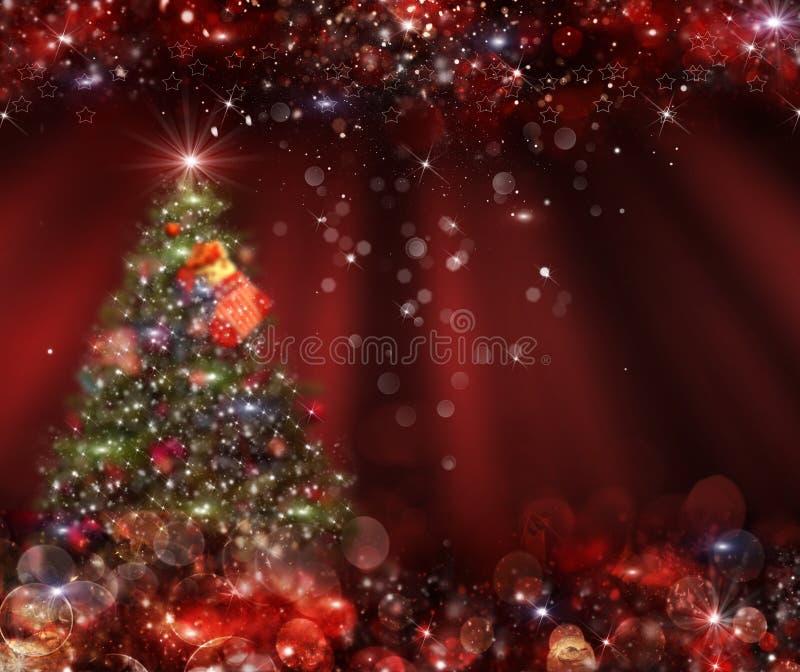 Árbol de navidad del fondo en el fondo