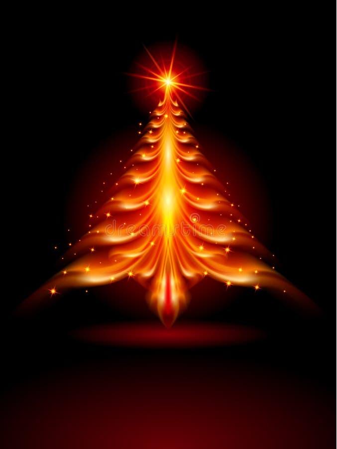 Rbol de navidad del fuego ilustraci n del vector imagen for Arbol del fuego jardin
