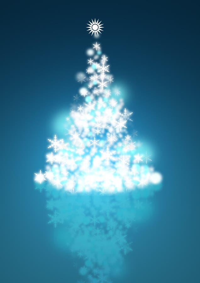 Árbol de navidad del invierno ilustración del vector