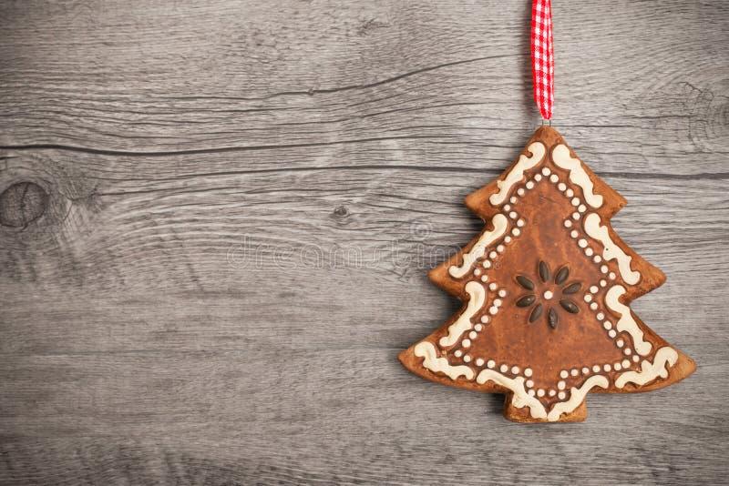 Árbol de navidad del pan de jengibre foto de archivo