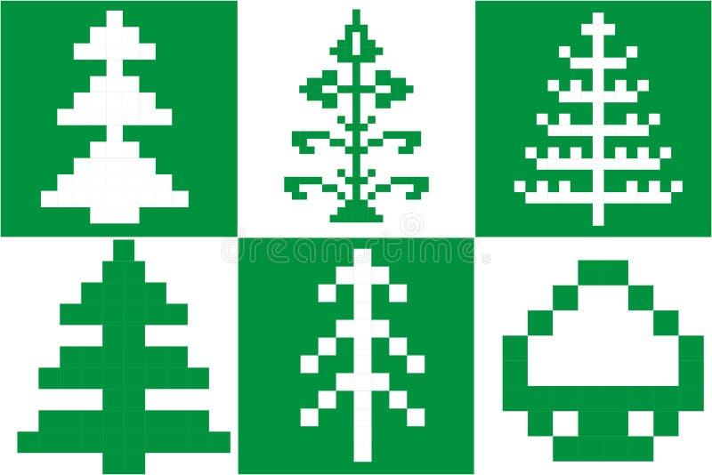 Árbol de navidad del pixel stock de ilustración