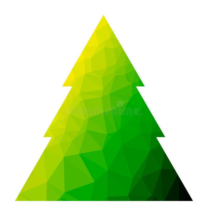 Árbol de navidad del polígono del vector ilustración del vector