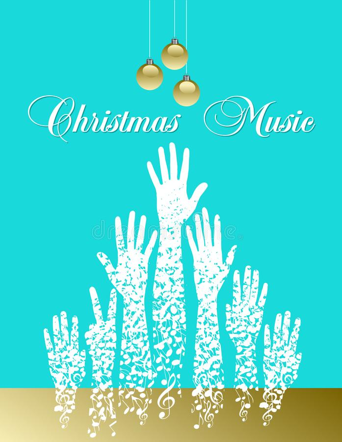 Árbol De Navidad Del Tema Musical Hecho De Notas Musicales ...
