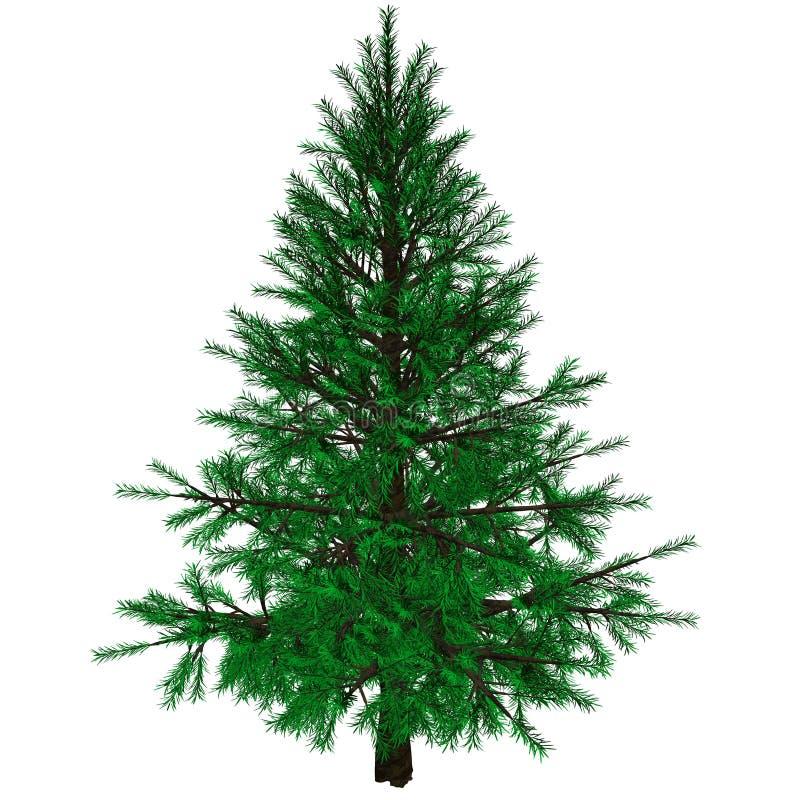 Árbol de navidad descubierto ilustración del vector