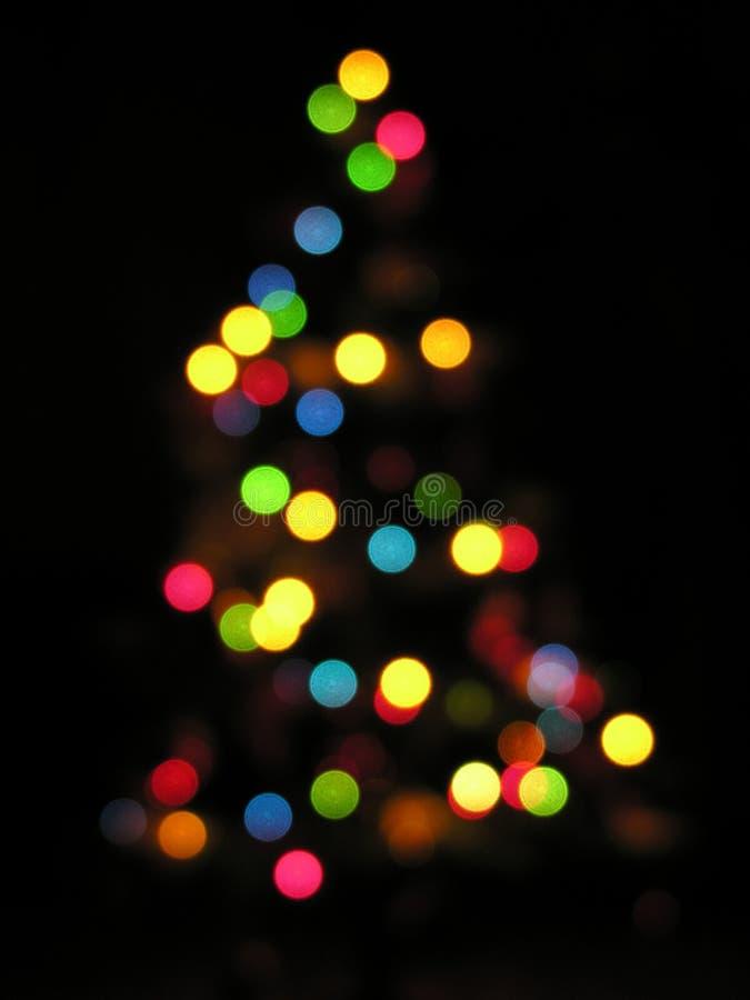 Árbol de navidad desenfocado foto de archivo
