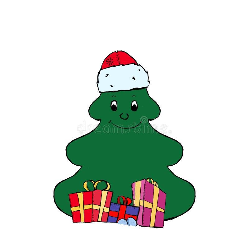 Árbol de navidad divertido libre illustration
