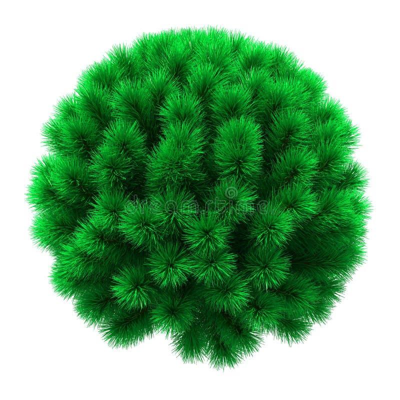 Árbol de navidad en la forma de una esfera fotos de archivo