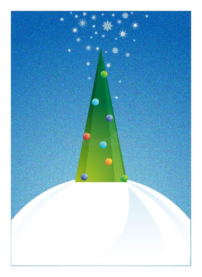 Árbol de navidad en la noche libre illustration