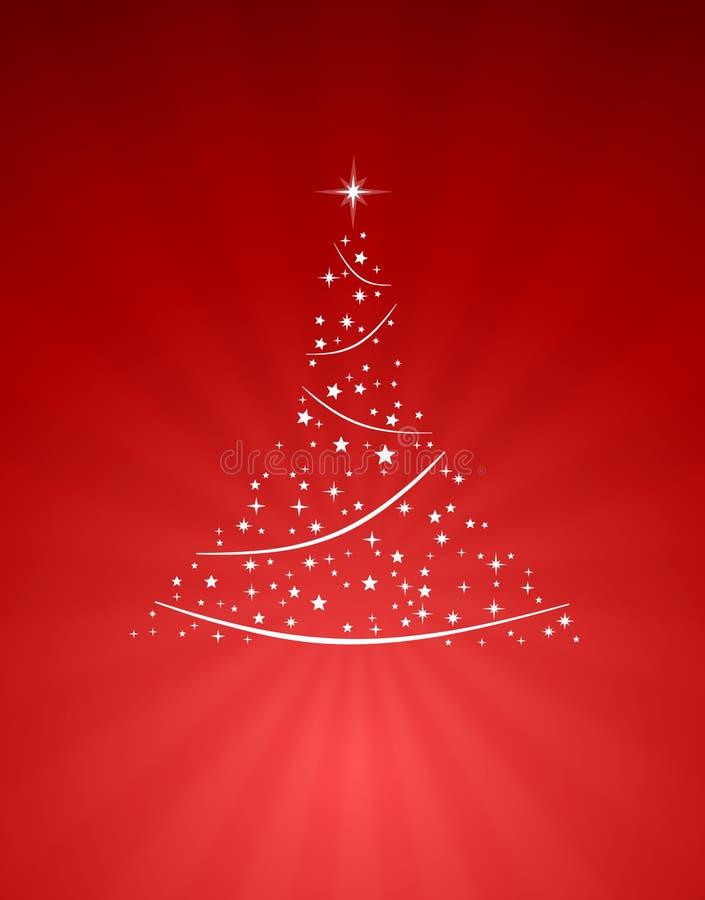 Download Árbol de navidad en rojo stock de ilustración. Ilustración de ilustración - 7151055