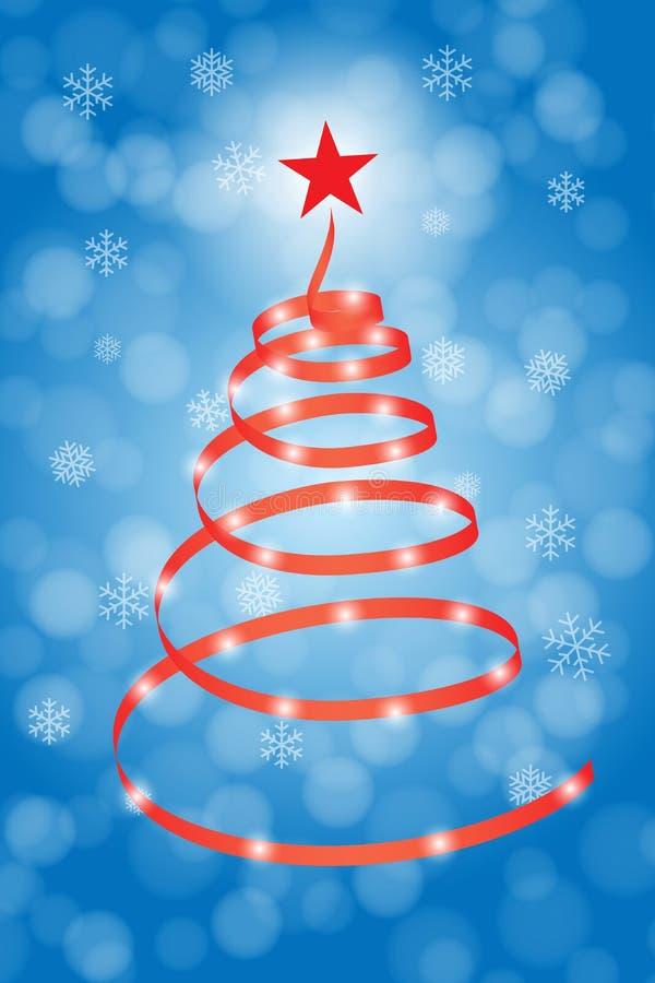 Árbol de navidad espiral stock de ilustración