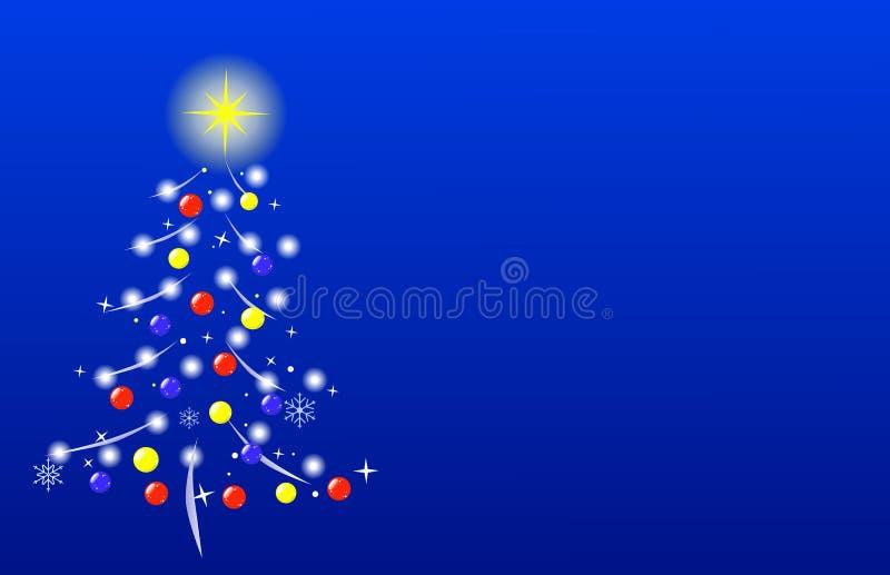 Árbol de navidad estilizado stock de ilustración