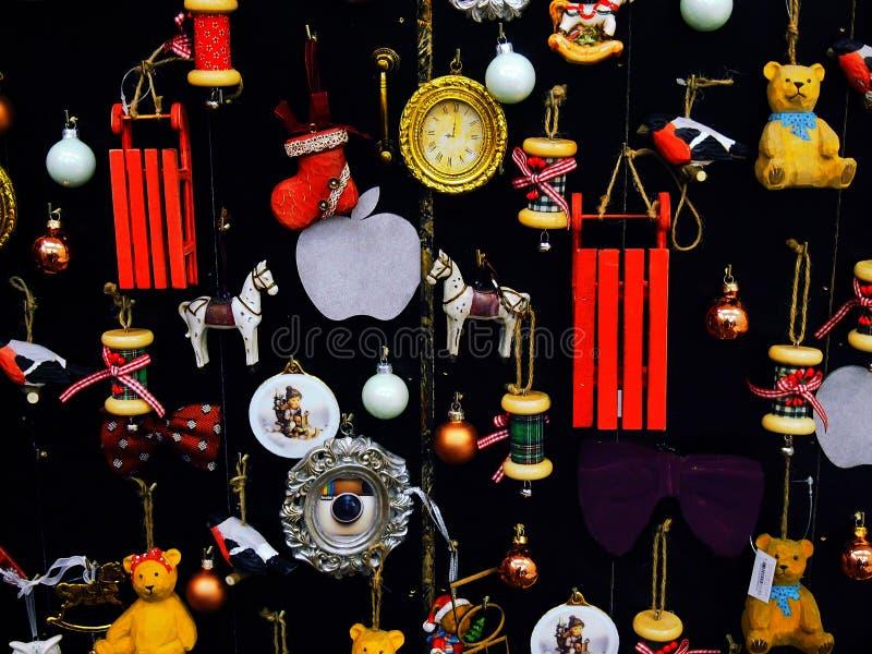 Árbol de navidad estilizado del diseño del vintage foto de archivo